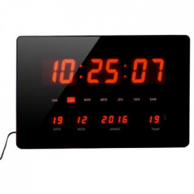 ORIUM Horloge a LED rouge Chronos - Forme rectangl