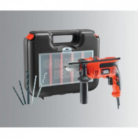 BLACK & DECKER Perceuse a percussion 710W + accs