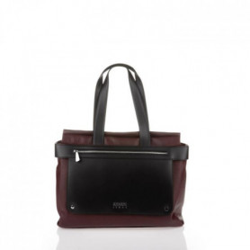 ARMANI JEANS - Sac a Main Bordeaux en Similicuir