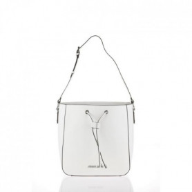 ARMANI JEANS - Sac a Bandouliere Blanc a Coulisse
