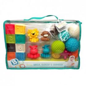 INFANTINO Senso Set de 8 balles souples, 8 cubes sensoriels