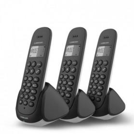 Logicom Aura 355T Trio Téléphone Sans Fil Répondeur Noir