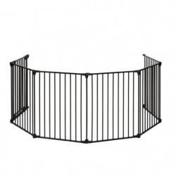 NIDALYS Barriere Pare Feu Multi fonctions Métal 70cm-370cm