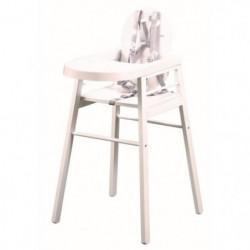 TINEO Chaise haute en bois blanc