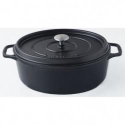 INVICTA Cocotte ovale - Ø 31 cm - Noir - Tous feux