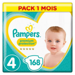 PAMPERS Premium Protection Taille 4 8-16 kg - 168 Couches