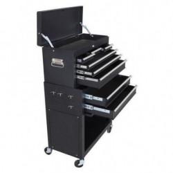 MANUPRO Servante d'atelier a outils 8 compartiments