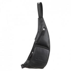 SILVERCAT Sacoche Holster - Cuir - 13x40 cm - Noir