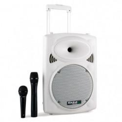 IBIZA PORT10VHF-BT-WH Systeme de sonorisation portable