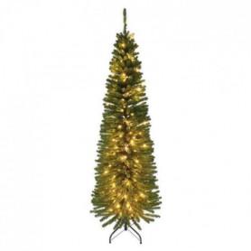 Sapin de Noël lumineux en PVC Luxe cypres 180 cm