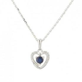 LE DIAMANTAIRE Collier Or 375° Diamants et Saphir