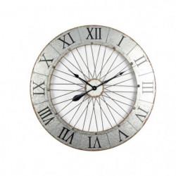 IRON Horloge murale effet métal - Acier - Ø80x5 cm