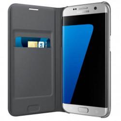 Samsung Etui Flip Wallet S7 Edge - Noir