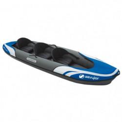 SEVYLOR Kayak Hudson avec sac - 3 places - Noir et bleu