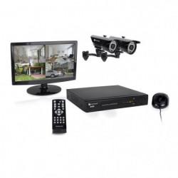 SMARTWARES Kit de surveillance HD DVR728S avec enregistreur