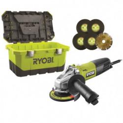 RYOBI Meuleuse d'angle - 125 mm - 800 W - Avec boîte a outils