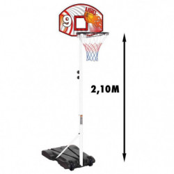 USG Panier de Basket sur pied Réglable de 1.65 a 2.10m