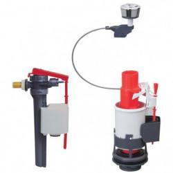 WIRQUIN Mécanisme de WC MW² double poussoirs à câble