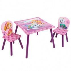 PAT PATROUILLE Ensemble Table Et 2 Chaises Pour Enfants