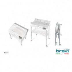 BREVI Table a langer pliante Pratico Lapinou perle