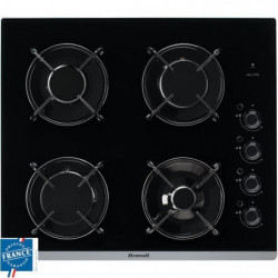 BRANDT BPG6413B-Table de cuisson gaz-4 foyers-L 51 x P 58 cm