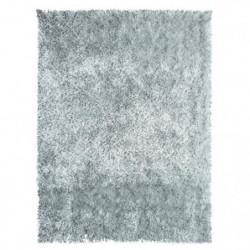 Tapis de salon shaggy 100% polyester Lilou gris 60x110 cm