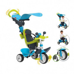 SMOBY Tricycle Baby Driver Confort Evolutif Bleu